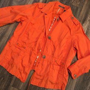 Liz Claiborne Orange Utility Jacket
